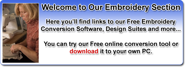 EMBROIDERY FILE CONVERSION SOFTWARE